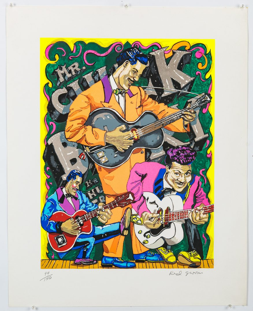 Lot 272: Red Grooms Signed Chuck Berry