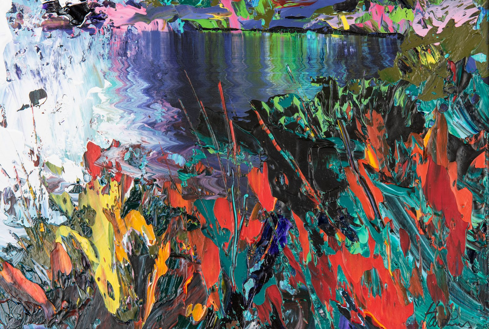 Lot 278: J. Hawkins Contemporary Abstract Painting