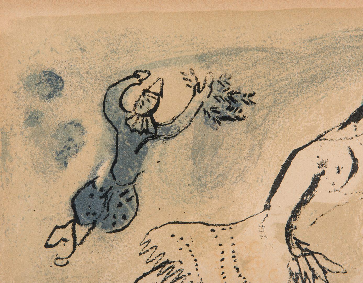 """Lot 279: Marc Chagall Colored Lithograph """"La Petite Ecuyere"""""""