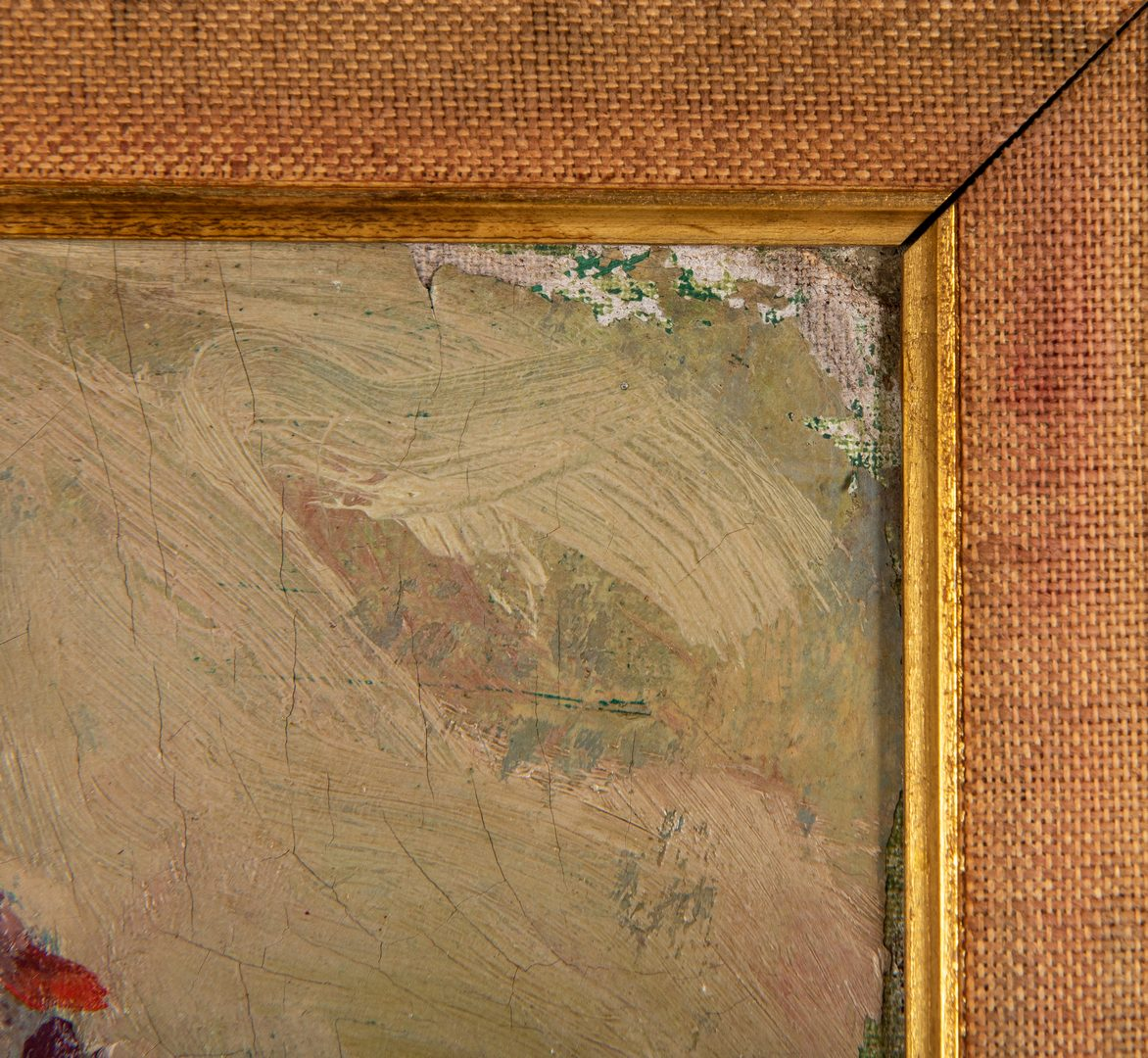Lot 287: Arthur Emil Regnas Oil on Canvas Street Scene