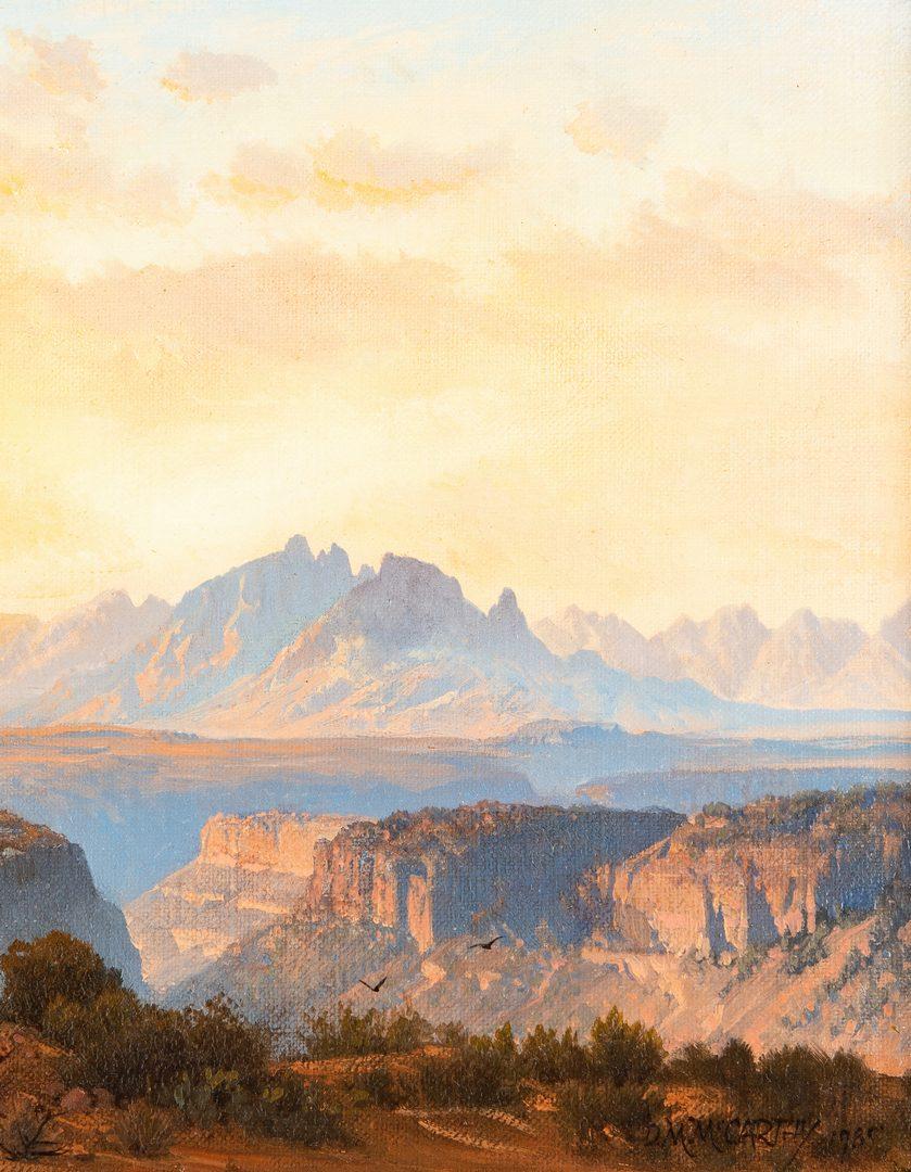 Lot 288: Michael McCarthy oil, Grand Canyon