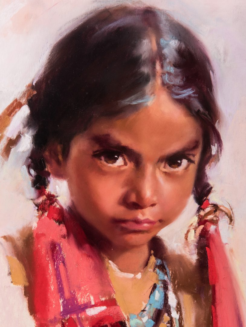 Lot 292: Harley Brown Native American Girl w/ Turquoise