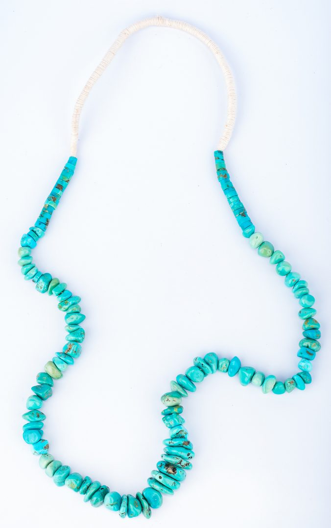 Lot 298: 2 Native American Turquoise Necklaces