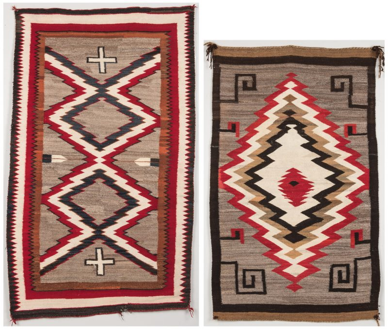 Lot 299: 2 Navajo Ganado Rugs