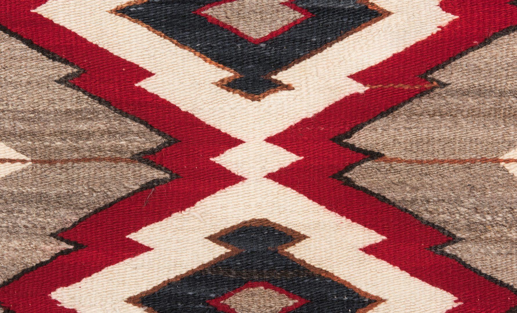 Lot 299: 2 Navajo Ganado Rugs
