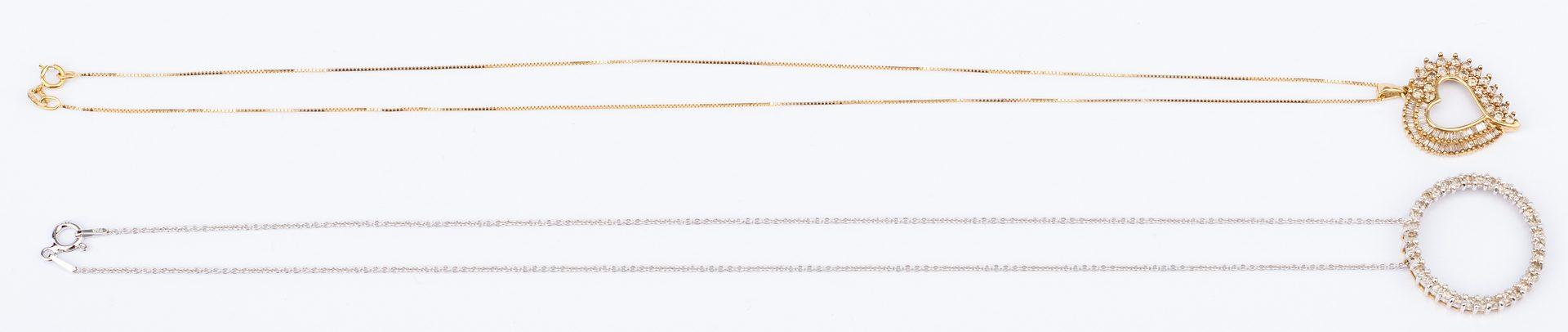 Lot 29: 4 items Ladies Gold, Diamond Jewelry