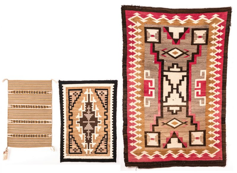 Lot 300: 3 Native American Navajo Rugs