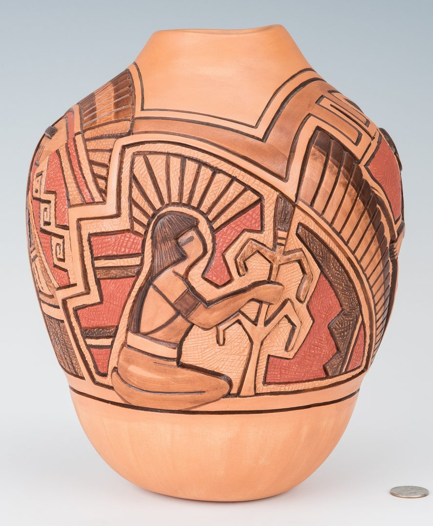 Lot 302: Thomas Polacca Nampeyo Native American Pottery Jar