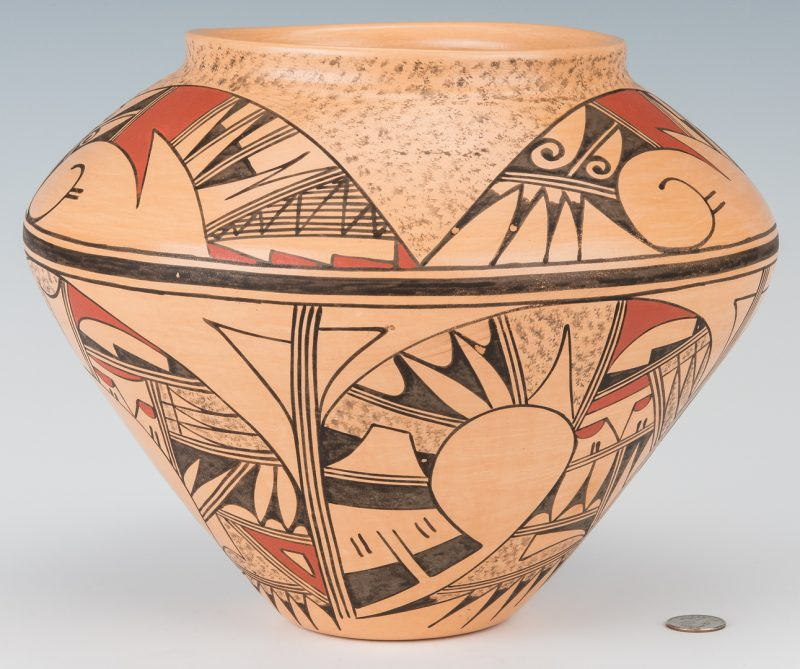 Lot 304: Hopi Polychrome Pottery Jar, JoFern Puffer