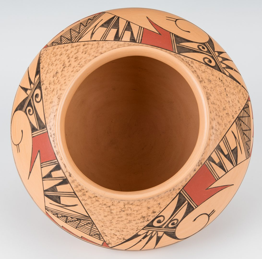 Lot 304: Hopi Polychrome Pottery Jar, JoFern Puffer