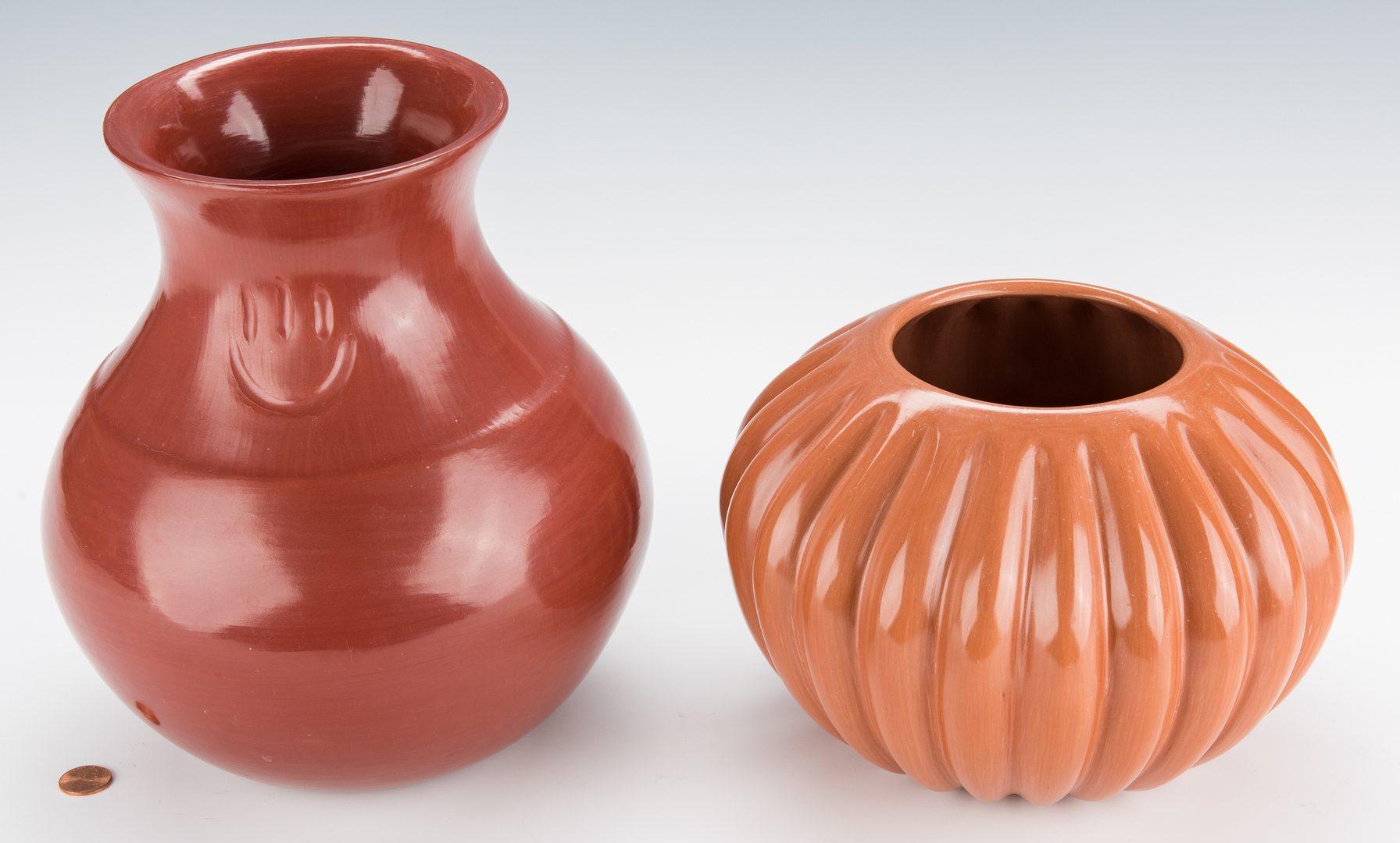 Lot 305: 2 Santa Clara Pottery Jars: Garcia and Komalestewa