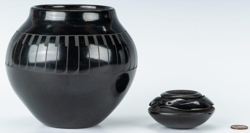 Lot 307: 2 Blackware Jars, inc. Tafoya