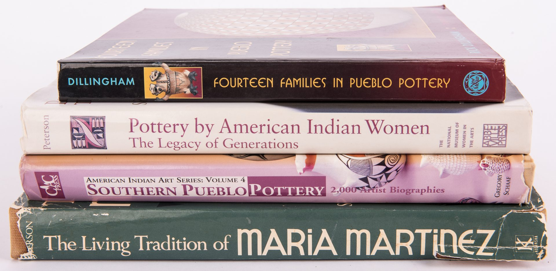 Lot 310: 4 Native American Pottery Books, inc. M. Martinez