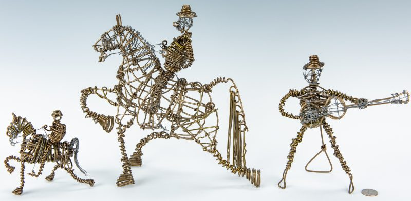Lot 311: 3 Vannoy Streeter wire sculptures