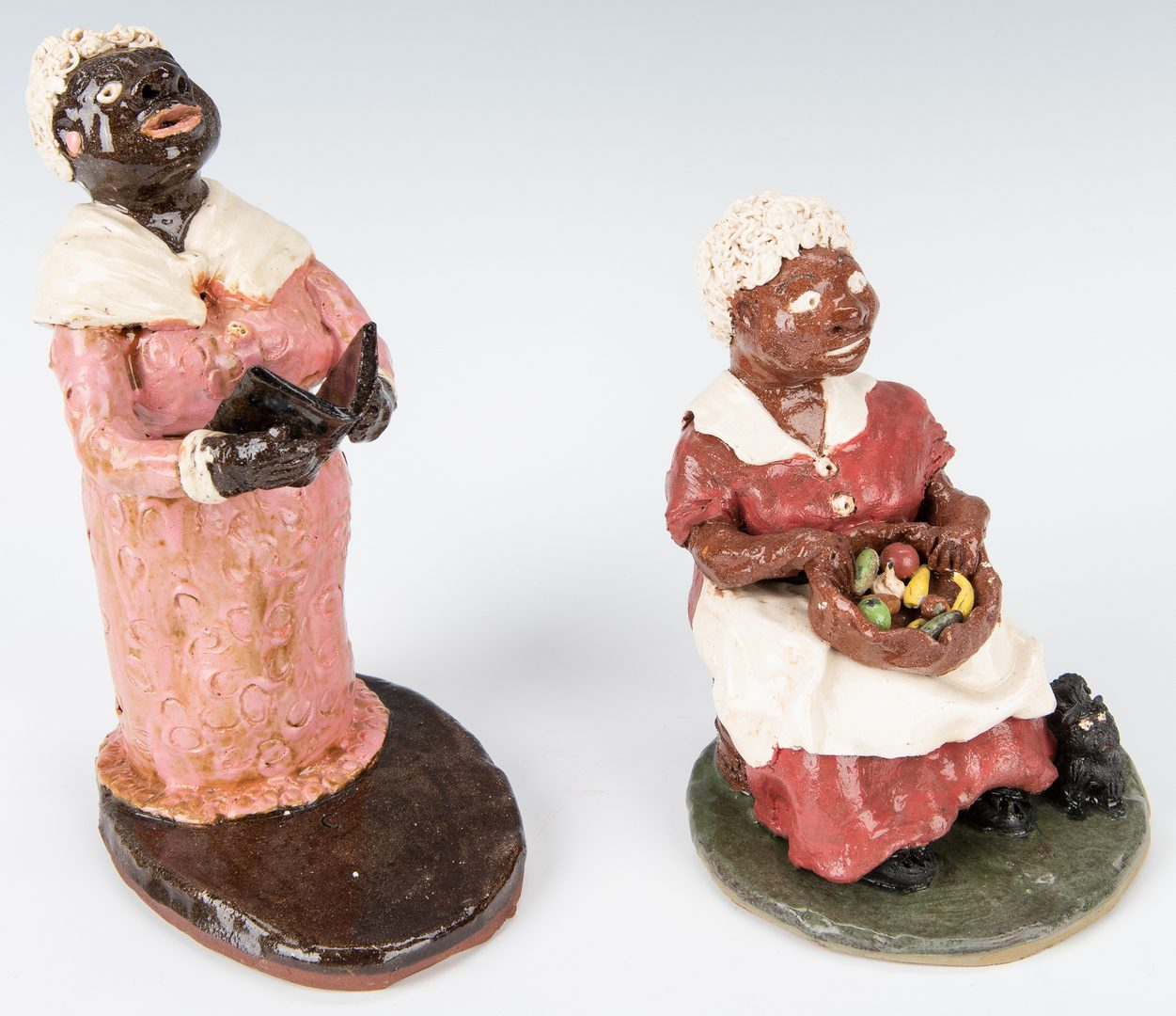Lot 313: 4 Ceramic Folk Art Items, inc. figures