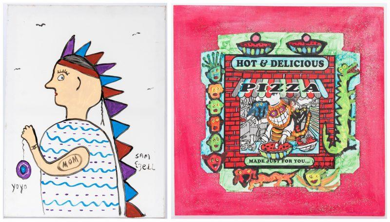 Lot 317: 2 Folk Art Works, Sam Ezell & Brian Dowdall