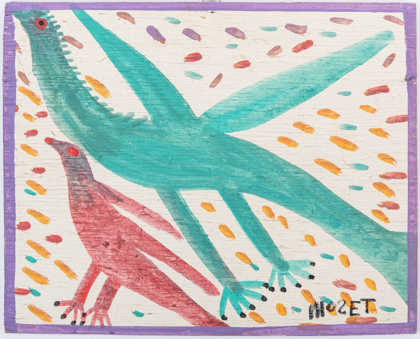 Lot 322: Mose Tolliver Bird Painting