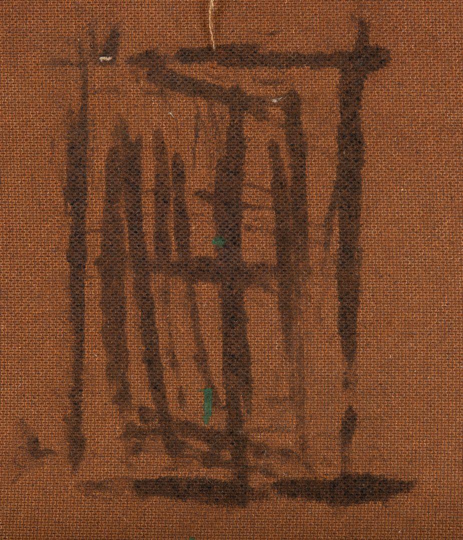 Lot 323: M. Rice Folk Art Landscape Painting