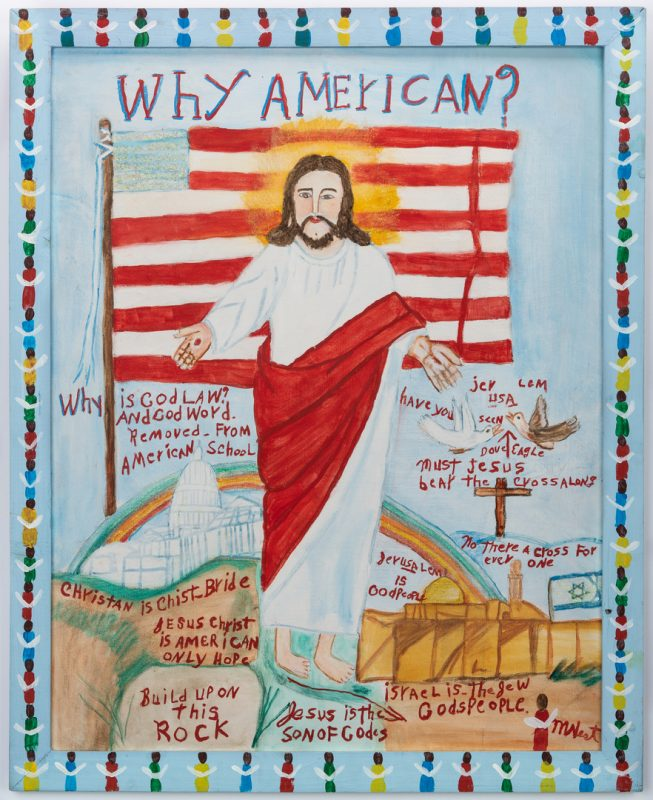 Lot 325: Myrtice West Folk Art Painting, Why American?