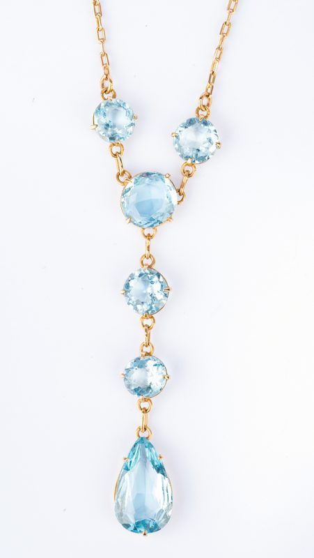 Lot 32: Vintage Aquamarine Necklace