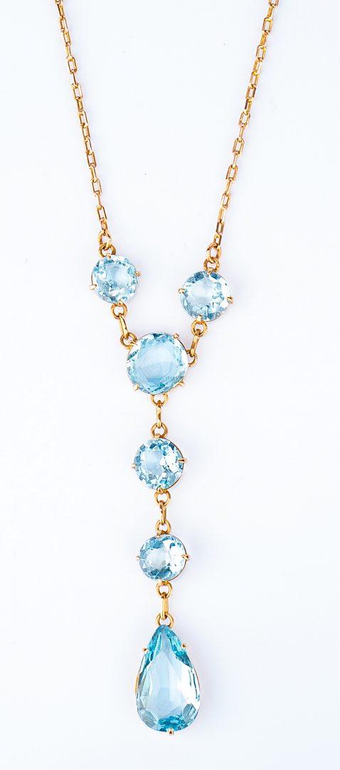 Lot 32: Vintage Aquamarine Necklace