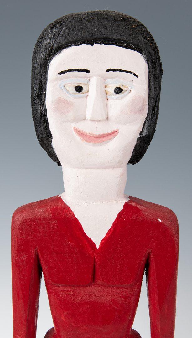 Lot 333: Pr. George Williams Southern Carved Folk Art Figures