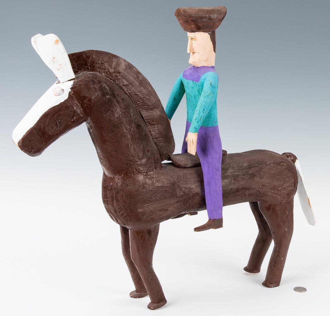 Lot 334: 2 Folk Art Sculptures, Delbert Buck & Cyril Billiot