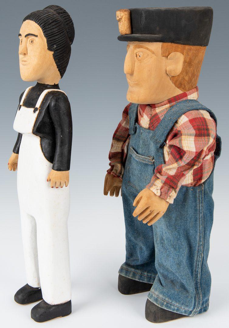 Lot 335: 2 Gibson Family Folk Art Carved Figures