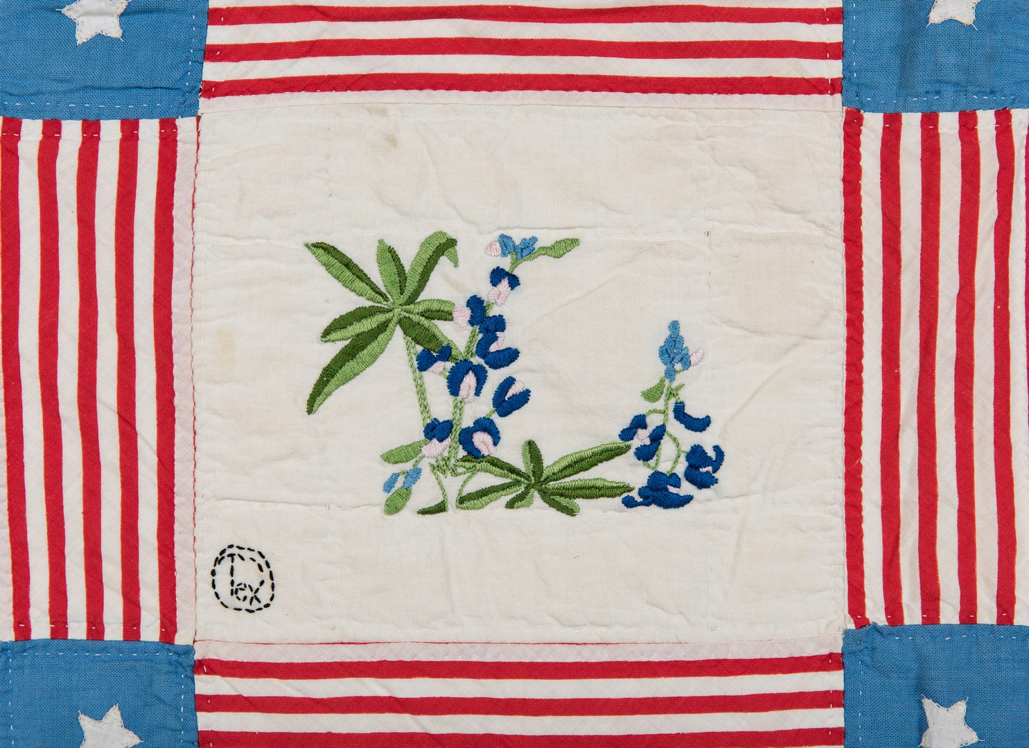Lot 338: Southern Patriotic Quilt, early 20th c.