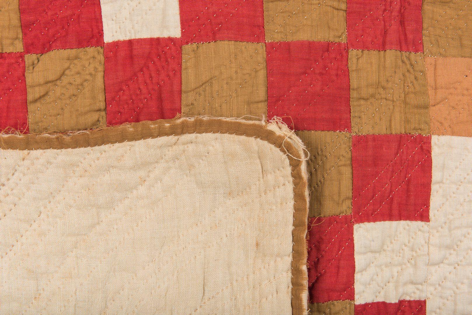 Lot 341: 2 American Quilts, Oak Leaf and Log Cabin