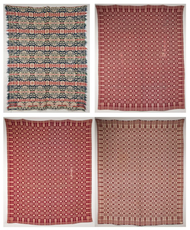 Lot 343: 4 Coverlets, Beil & Goodwin Guild