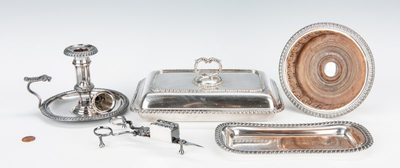 Lot 354: 5 Victorian Silverplate Tableware Items