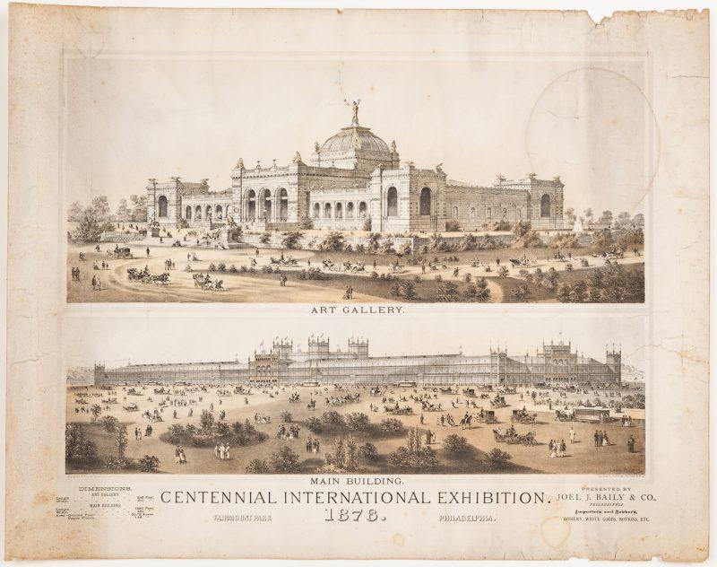 Lot 356: Centennial Exhibition Poster & World's Fair Medal, 2 items
