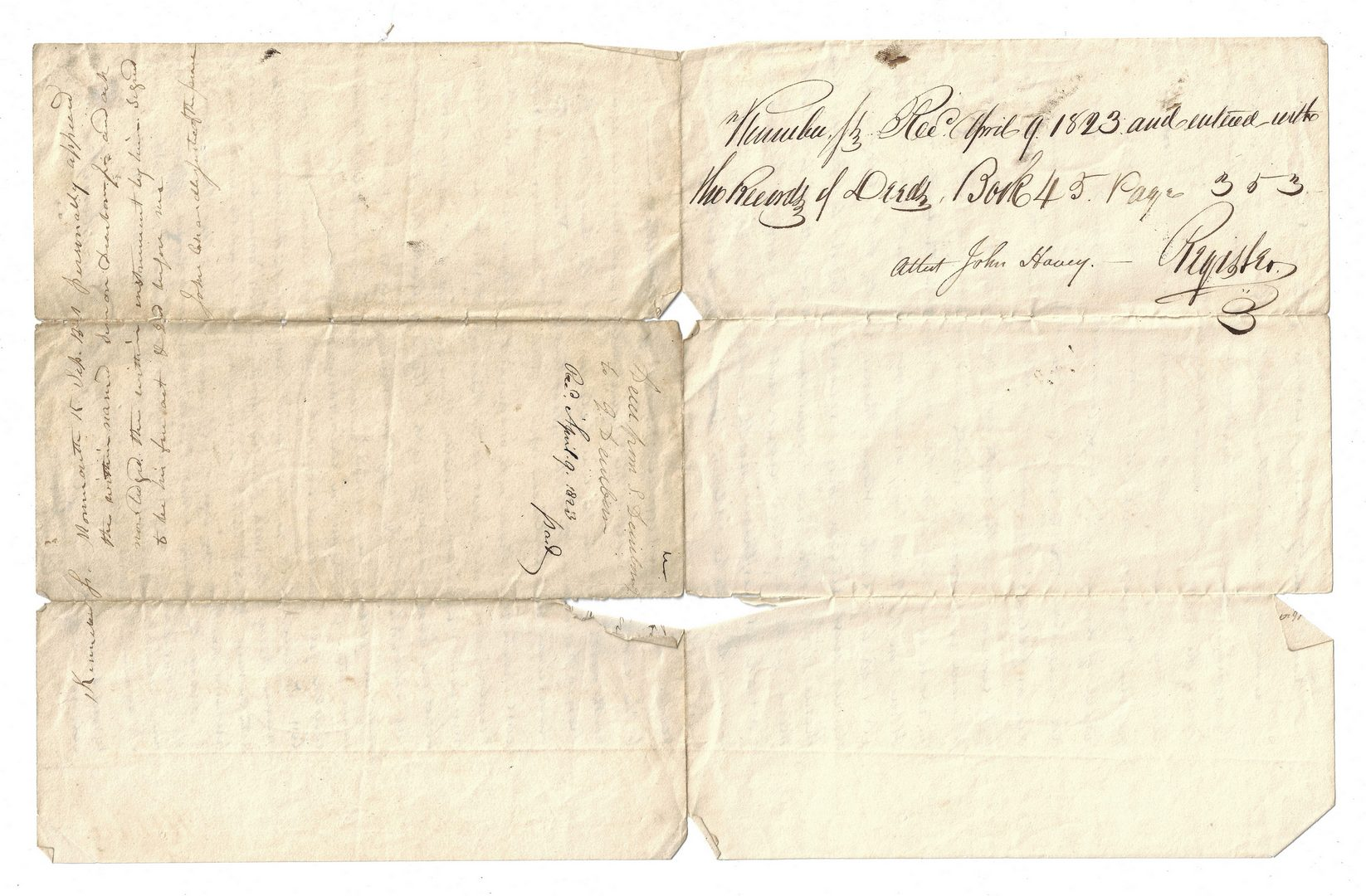 Lot 357: 3 Land Documents, inc. Henry Dearborn signed