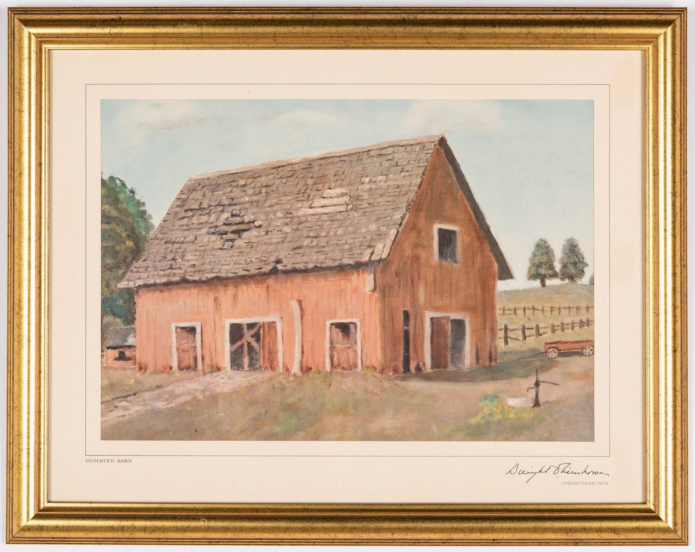 Lot 361: 8 Framed Eisenhower Christmas Prints