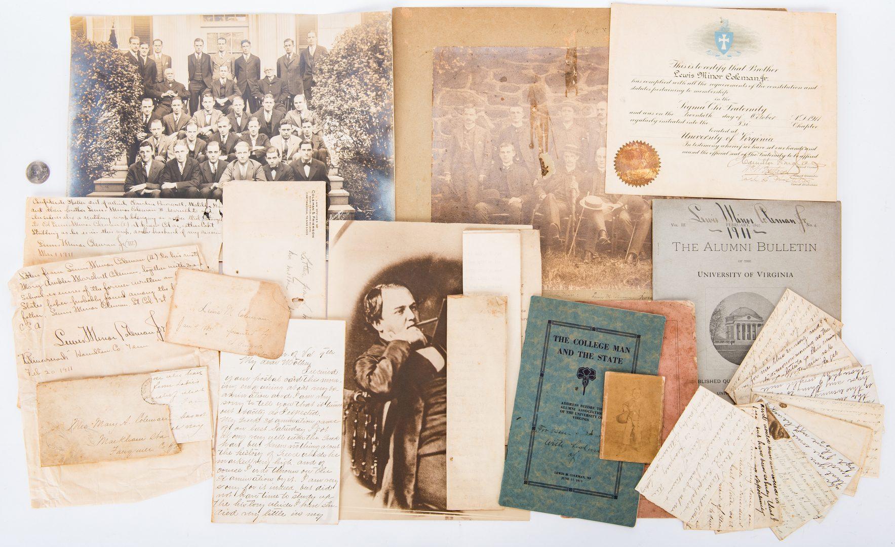 Lot 365: Lewis M. Coleman, Jr. Archive, 22 items