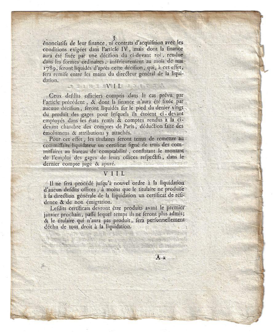 Lot 367: 7 French Documents, inc. Revolution Era Decrees
