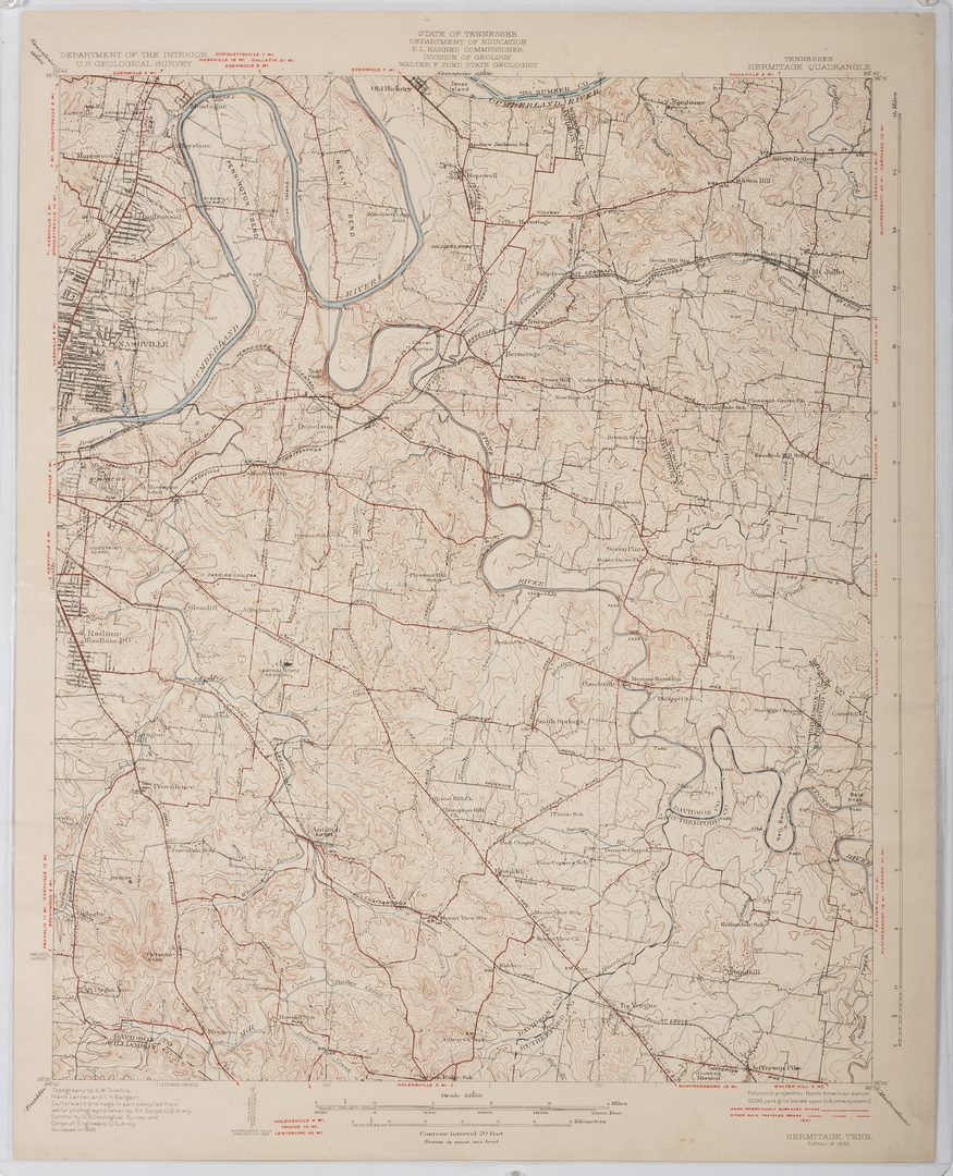 Lot 371: 2 Geological Maps of Tennessee