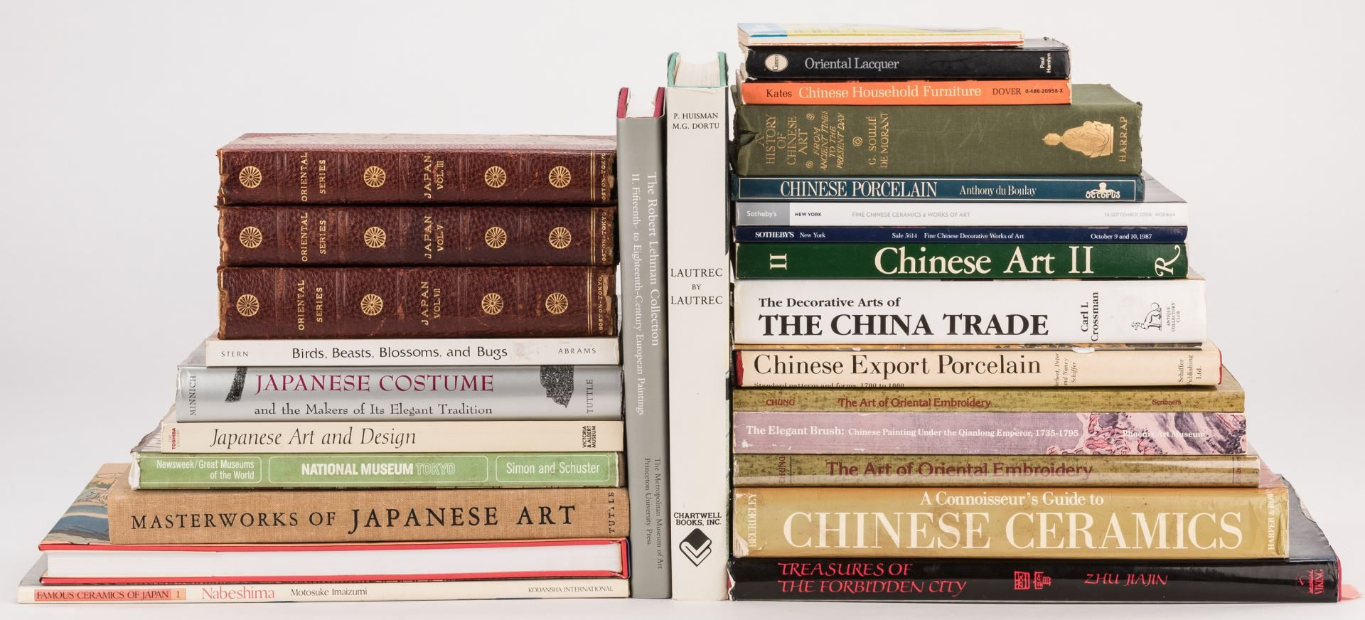 Lot 375: Lot of 28 Decorative Arts Books, mostly Asian