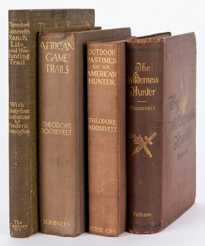 Lot 376: 4 Theodore Roosevelt Books