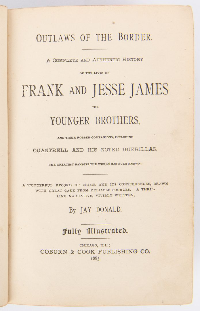 Lot 377: 6 Jesse James Related Books