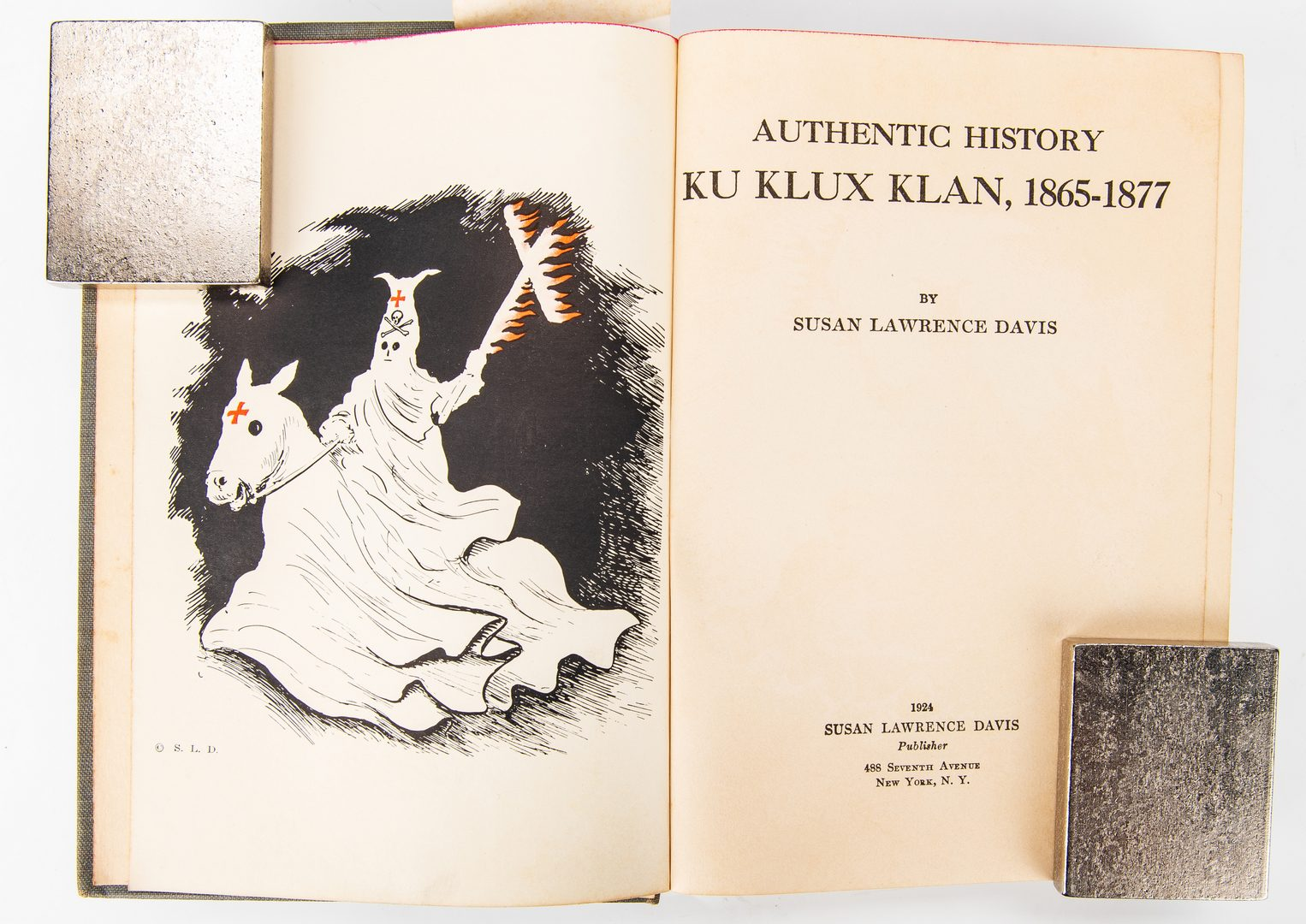 Lot 378: 2 Ku Klux Klan Related Books, inc. S.L. Davis Signed