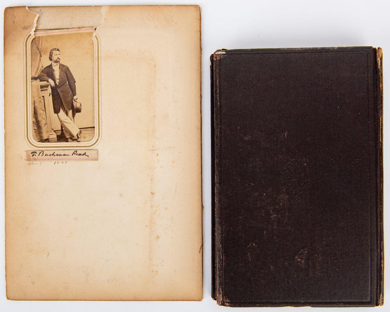 Lot 379: Thomas Buchanan Read autograph, CDVs and book:  A Summer Story, 1865
