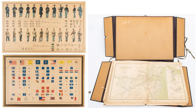 Lot 380: Bien (Partial) Civil War Atlas: Maps and Framed Prints, 28 items
