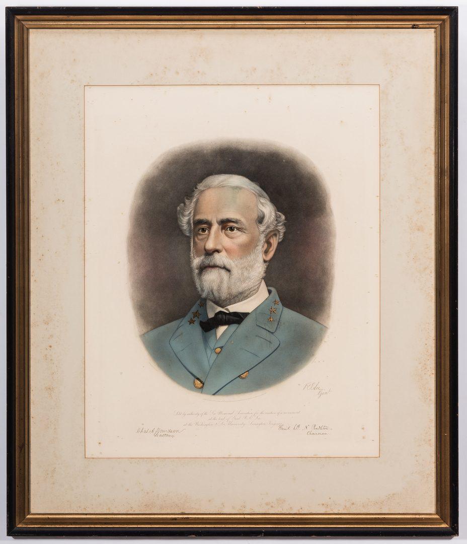 Lot 381: Robert E Lee & Stonewall Jackson Prints by A. B. Walter