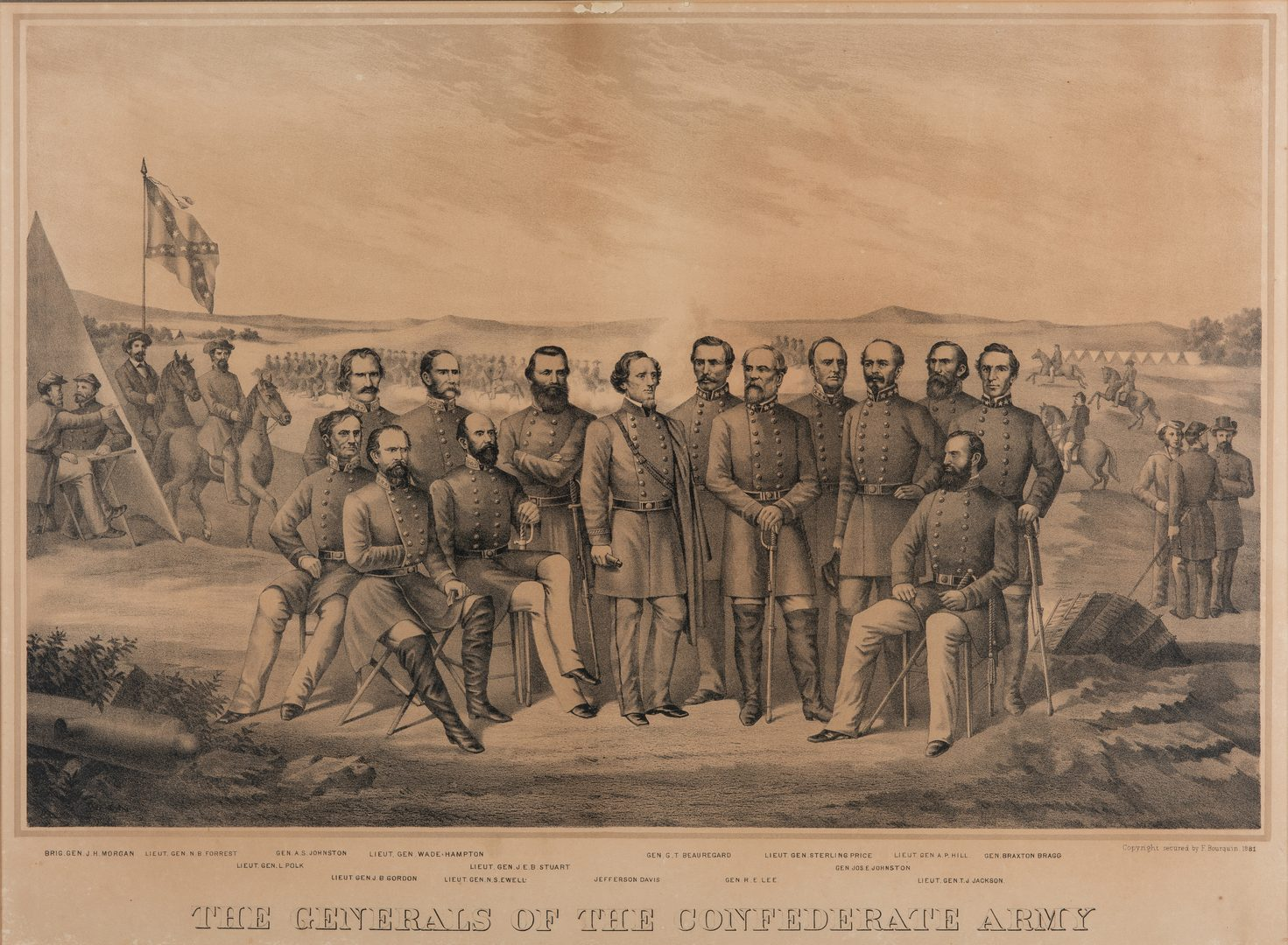 Lot 382: 3 Confederate Prints inc. Robert E. Lee