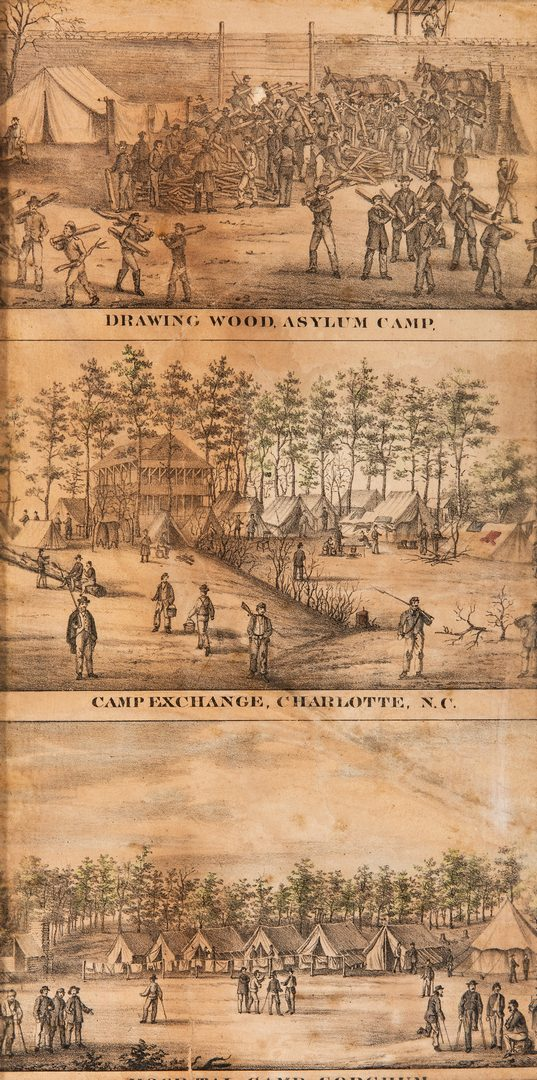 Lot 385: 4 Civil War Prints inc. Southern Prisons by Sachse