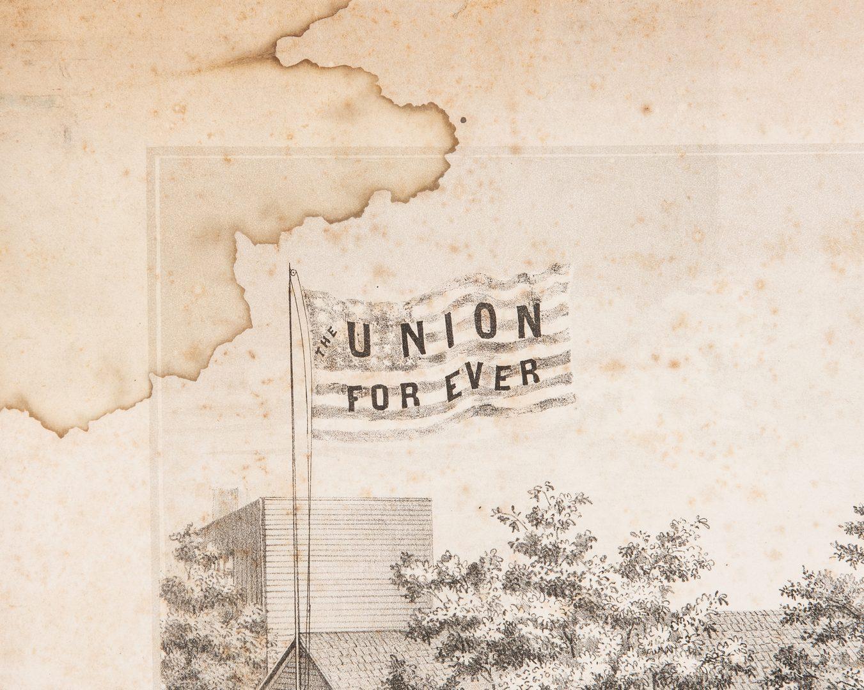 Lot 386: Civil War Print: Volunteer Refreshments