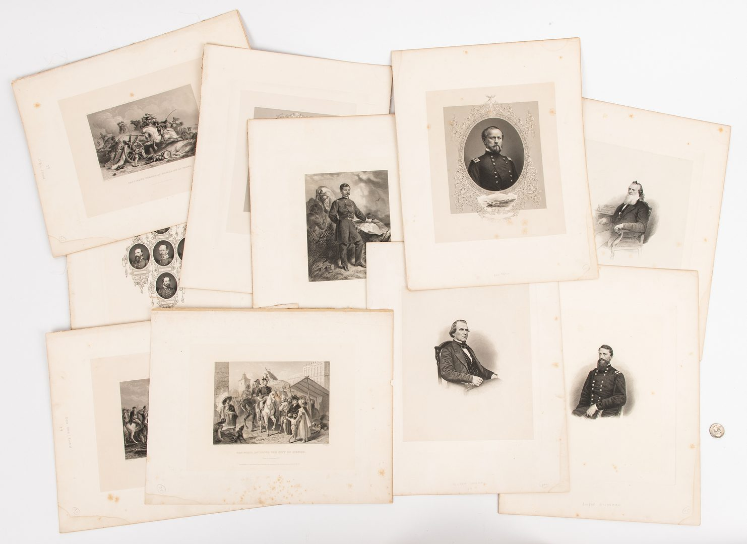 Lot 389: 27 American Statesmen and Generals Engravings, 1866