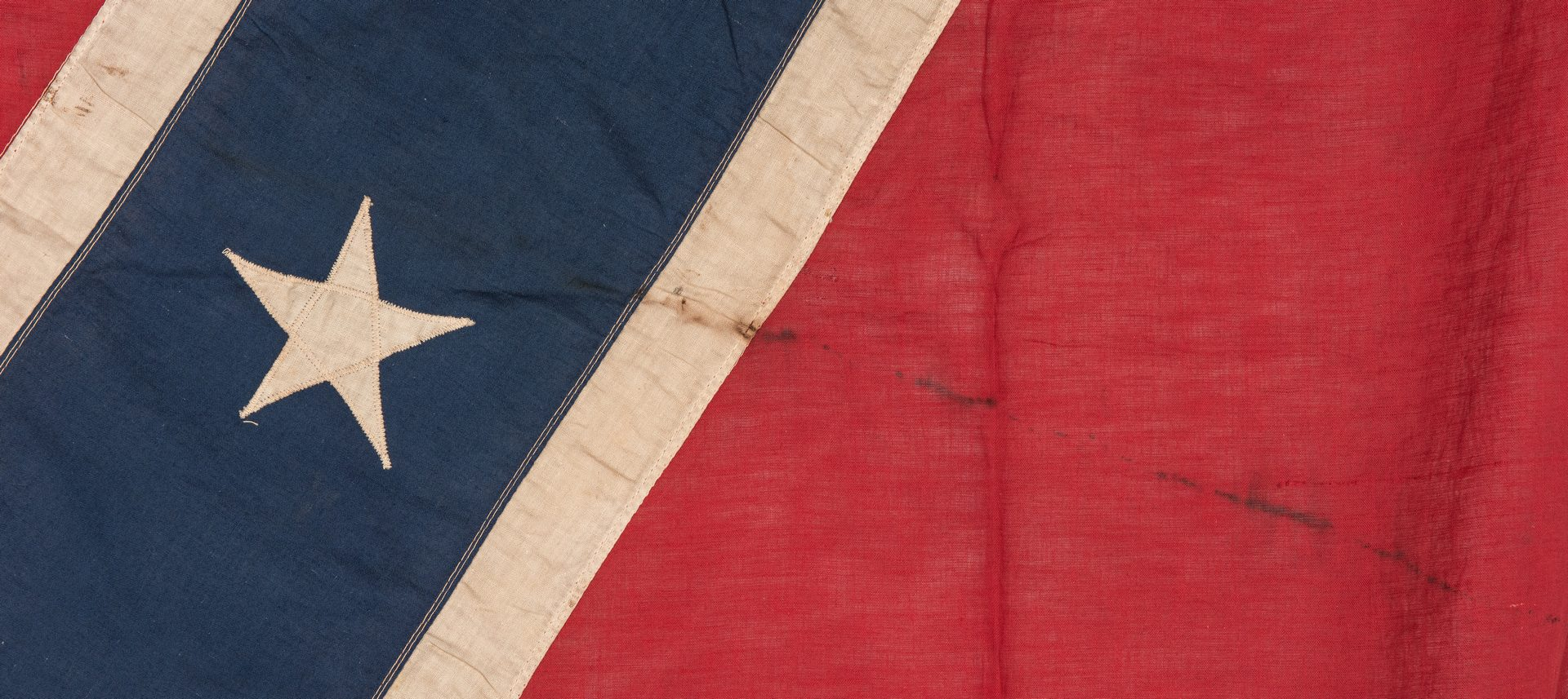 Lot 392: Large Linen Southern Cross Reunion Flag